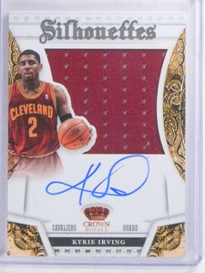 2013-14 Panini Preferred Silhouettes Kyrie Irving autograph jersey #/35 *68078