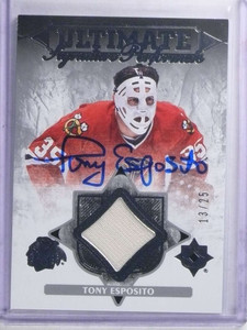 2016-17 Ultimate Collection Performers Tony Esposito autograph jersey /25 *68110