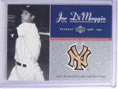 2001 Upper Deck Pinstripe Exclusive Joe Dimaggio bat #D20/100 #JD-B4 *68113