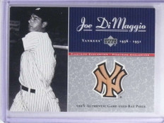 2001 Upper Deck Pinstripe Exclusive Joe Dimaggio bat #D39/100 #JD-B9 *68114