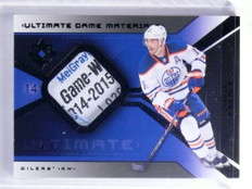 2015-16 Ultimate Collection Game Materials Jordan Eberle tag patch #D4/5 *68121