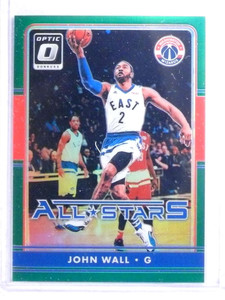 2016-17 Panini Optic All-Stars Green Prizm John Wall #D5/5 #16 *68136