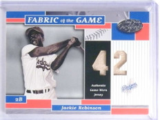 2002 Leaf Certified Fabric Of The Game Jackie Robinson jersey #D27/42 *68149