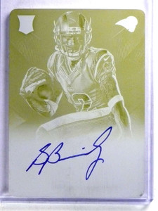 2013 Panini Black Stedman Bailey autograph auto rc Printing Plate #D 1/1 *68245