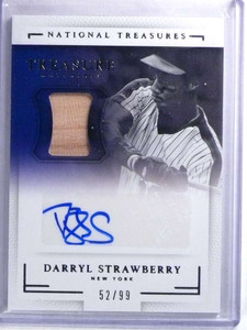 2016 National Treasures Darryl Strawberry autograph auto bat #D52/99 *68274