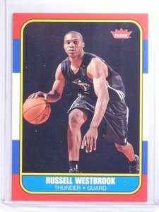 2008-09 Fleer Retro 86-87 Rookies Russell Westbrook rc rookie #86R-166 *68297