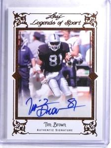 2012 Leaf Legends Of Sport Tim Brown autograph auto #BA-TB1 *68317