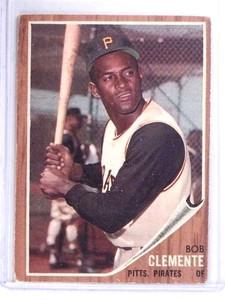 1962 Topps Roberto Clemente Pirates #10  VG *68387