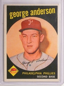 1959 Topps George Sparky Anderson rc rookie #338 VG-EX *55201