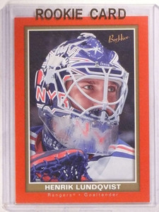 2005-06 Upper Deck Beehive Red Henrik Lundqvist rc rookie #126 *68495