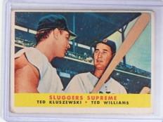 1958 Topps Sluggers Supreme Ted Kluszewski Ted Williams #321 VG *68675