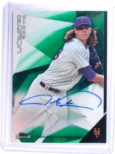 2015 Topps Finest Green Refractor Jacob Degrom autograph auto #D55/99 *68702