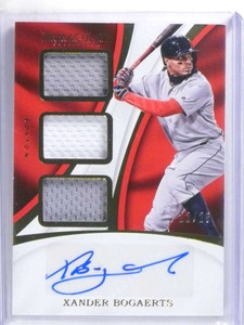 2017 Panini Immaculate Xander Bogaerts autograph jersey #D22/25 #TMA-XB *68778