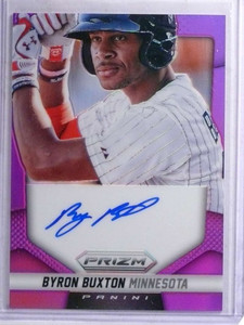 2014 Panini Prizm Purple Byron Buxton autograph auto rc rookie #D03/99 *68876