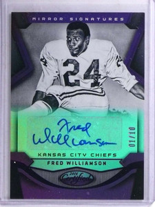 2016 Panini Certified Mirror Purple Fred Williamson autograph #D01/10 *68917