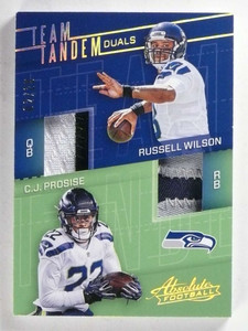 2017 Panini Absolute Team Tandem Russell Wilson Prosise patch #D02/25 *68892