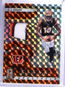 2017 Panini Spectra Sunday Spectacle A.J. Green 3 color patch #D1/5 *68896
