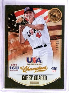 2013 Upper Deck Champions USA Corey Seager rc rookie #D08/25 #36 *69109