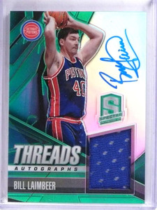 2013-14 Spectra Threads Bill Laimbeer autograph auto jersey #D96/199 *69034