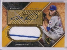 2017 Topps Triple Threads Gold Jacob Degrom autograph auto jersey #D20/25 *69281