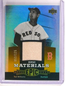 2006 Upper Deck Reflections Epic Materials Ted Williams jersey #D52/125 *69244