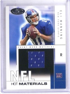 2004 Hot Prospects NFL Materials Eli Manning rookie jersey #D450/500  *69181