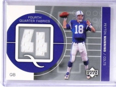 2002 Upper Deck Fourth Quarter Fabrics Peyton Manning jersey #FQ-PM *69184