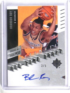 2010 Ultimate Collection All Time Draft Brandon Roy auto autograph #D3/5 *34490