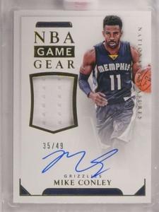 2015-16 National Treasures Mike Conley autograph auto jersey #D35/49 *69386