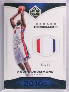 2016-17 Panini Limited Decade Andre Drummond 3 color patch #D03/10 *69357