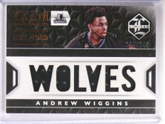 2015-16 Panini Limited Team Trademarks Andrew Wiggins jersey #D105/149 *69534