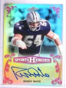 2017 Leaf Sports Heroes Pink Randy White autograph auto #D4/4 #BA-RW1 *69354