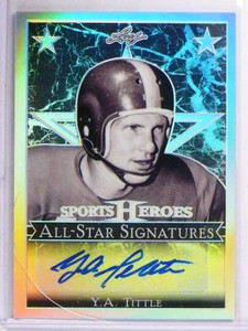 2017 Leaf Sports Heroes Y.A. Tittle autograph auto #AS-YAT *69356
