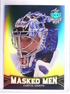 2017 Leaf Masked Men Prismatic Black Curtis Joseph #D3/10 #05 *69575