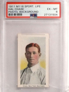 1911 M116 Spoting Life Past Backround Hal Chase PSA 6 EX-MT *69587