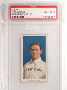 1909 T206 Hal Chase Portrait Blue PSA 4 VG-EX *69594