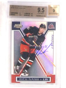 2002-03 Pacific Exclusive Rick Nash autograph auto rc #D377/1000 BGS 9.5 *69605