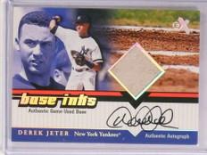 2001 EX Base Inks Derek Jeter autograph auto base Yankees *69624