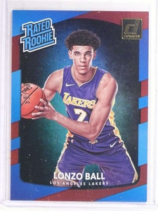 2017-18 Donruss Rated Rookie Laser Red Lonzo Ball rc rookie #D68/99 #199 *69669