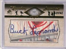 2008 Sp Legendary Cuts Buck Leonard autograph auto #D07/62 #LC-BU *69738 ID: 16633