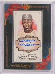 2009 Topps Allen & Ginter Willie Williams autograph auto #AGA-WW *69751 ID: 16638