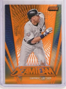 2017 Topps Stadium Club Beam Orange Team Derek Jeter #D28/50 #BT-DJ *69760 ID: 16672