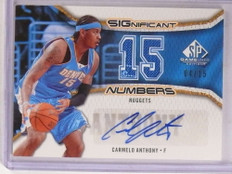 2006-07 Sp Game Used Numbers Carmelo Anthony autograph jersey #D04/15 *69671 ID: 16684