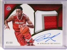 2015 Panini Immaculate D'angelo Russell autograph auto patch rc #D65/99 *69686 ID: 16685