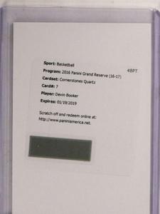 2016-17 Grand Reserve Cornerstones Quartz Devin Booker autograph auto /49 *69689 ID: 16687