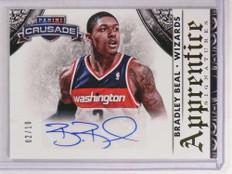 2013-14 Panini Crusade Apprentice Bradley Beal autograph auto #D02/10 #18 *69758 ID: 16692