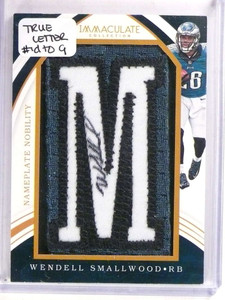 2016 Immaculate Nameplate Wendell Smallwood autograph patch rc #D2/9 *69775 ID: 16741