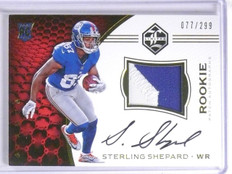 2016 Panini Limited Sterling Shepard Rookie Patch Autograph #D077/299 #122 *6408
