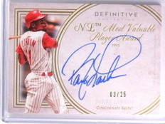 2017 Topps Definitive Legendary Barry Larkin autograph auto #D03/25  *70046