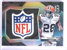 2014 Panini Spectra Terrance West NFL Shield patch rc rookie #D 1/1 *70116